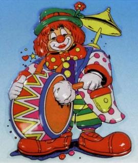 32502 Musik Clown, ca. 58 x 45cm groß, Plastik...
