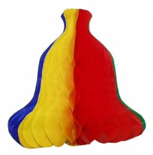 7179 Waben Glocke, ca. 28 cm groß, fünffarbig, flammenresistent - Vorschau