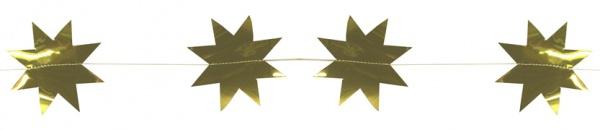 8134 goldene Sternengirlande, 2m lang...