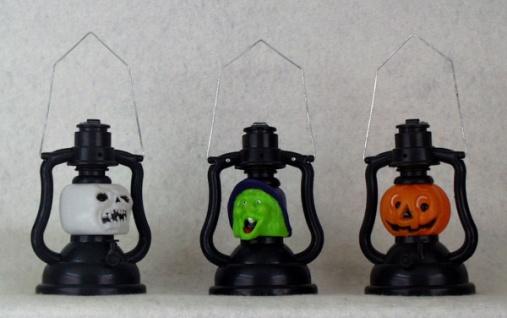 0032 Halloween Lampe in 3 verschiedenen Ausführungen (Totenkopf, Hexe und Kürbis), aus Plas - Vorschau