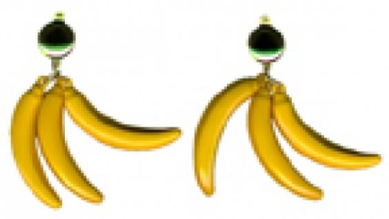 1027 1 Paar Südsee Ohrclipse mit je 3 Bananen...