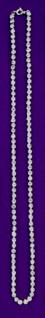 11941 Einfaches Collier, ca. 60cm lang, 110 Similisteine...