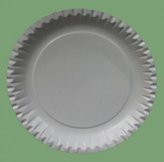 75056 10 Stück Große flache runde Pappteller, 23 cm Ø
