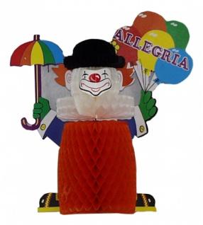 """7148 Tischdekoration """" Glücklicher Clown"""", 30 cm groß"""