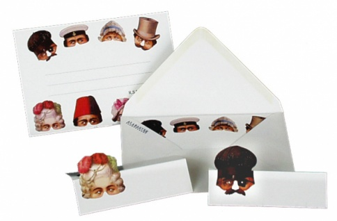 71493 Party Set mit viktorianischen Masken; Inhalt: 8 Einladu - Vorschau
