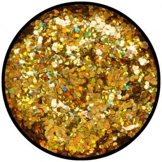 es902547 Gold Juwel (grob), holografischer Glitzer...