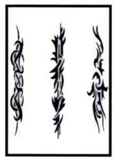 es456132 Tattooschablone Stripes III