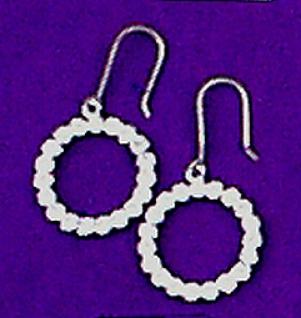 11907 Ohrhänger mit Ring mit 2x12 Similisteinen, 25mm breit...