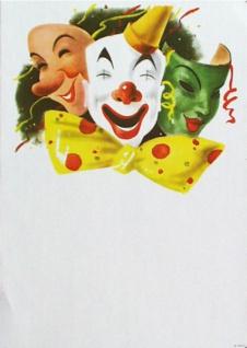 "7410 Großes Karneval Plakat, "" 3 Masken"", 59x84cm groß, - Vorschau"