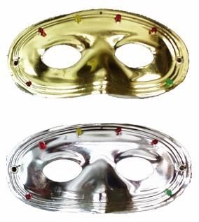 """8398 """" Blinkender Domino"""", eine Maske in gold oder silber m"""