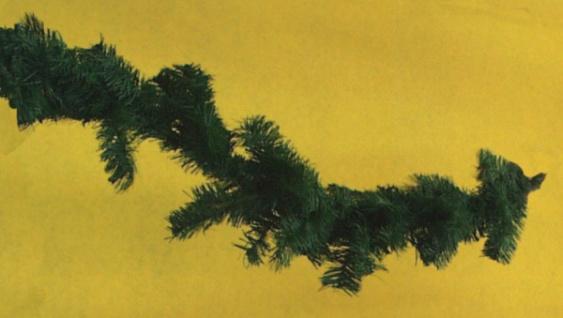 7282 Fichten Zweig Girlande, 2m lang, mit 110 Stück 15cm langen Zwei