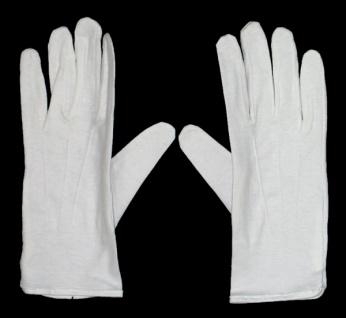 58860 Weiße Clown Handschuhe in Einheitsgröße...