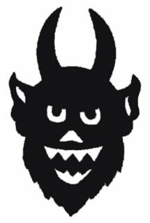 56360 Filz Teufel, 17x10, 5 cm groß, schwarz, selbstklebend... - Vorschau
