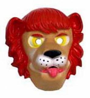 3090 Löwenmaske aus Plastik, für Erwachsene... - Vorschau
