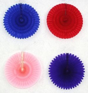 71900 Einfarbiger Fächer, ca. 30 cm Durchmesser, Papier, flammenresi