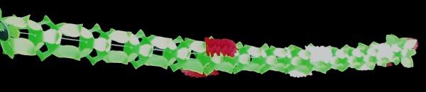 7254 Girlande, 4m lang, 14cm hoch, grün, mit Wabenblumen, schwer ent - Vorschau