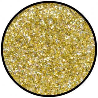 es902035 Gold Juwel (mittel), holografischer Glitzer...