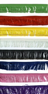 13972 Seidenfransen, 60mm breit, 12, 5 Meter, in schwarz,