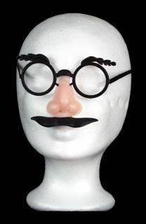 2941 Brille mit Nase, Wimpern und Schnurrbart ...