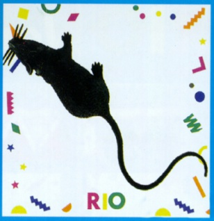 0065 Ratte mit Nadel zum Anstecken an die Kleidung, in grau, 10cm lang...