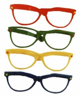2998 Riesenbrille, Clownbrille, 30cm breit, in rot und blau lieferbar...
