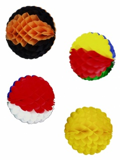 7170 Waben Ball, ca. 38cm Ø, einfarbig oder bunt, flammenresi