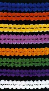 72850 Seidenpapiergirlande einfarbig, 10m lang, ca. 16cm Ø, in weiß, gelb, orange, rot, pin - Vorschau