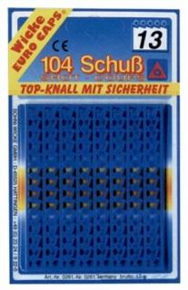 6819 Streifen Amorces, 13 er, 8 Streifen = 1 Blisterkarte (104 S