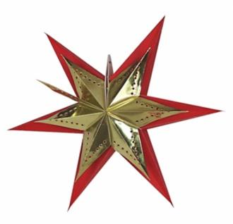 821905 Weihnachtsstern aus Pappe, für Beleuchtung bis 25 Watt geeign