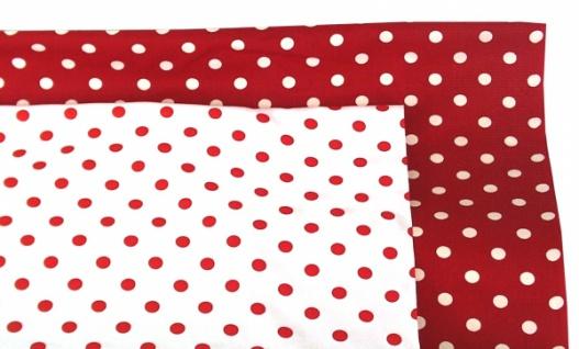 14734 Baumwollstoff, 80cm breit, in weiß mit roten Punkten (28mm &Os - Vorschau 2