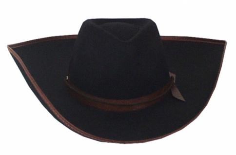 Hut aus Filz 1922 Cowboy Hut, mit geprägtem Band und Einfaß, mit Hal