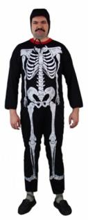 6099 Skelett Kostüm für Erwachsene, Einh