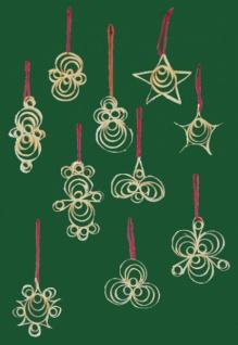 8254 Baumbehang: Set mit 10 verschiedenen Spanornamenten, 6 9cm groß