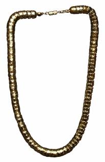 1119 dicke goldfarbene Kette, passt zu vielen historischen Kostümen von der Bronzezeit bis ins spä