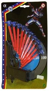 6773 Pfeilpistole mit 10 Pfeilen, 28 x 18 cm groß... - Vorschau