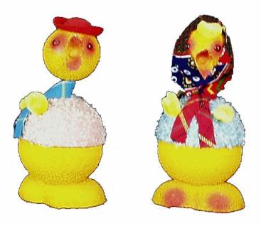 98772 Hasen, Küken oder Enten zum befüllen mit z.B. Schokoladen Os