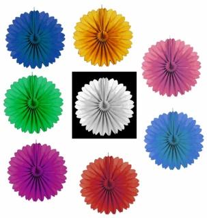 71902 Einfarbige Rosette, ca. 60 cm Durchmesser, Papier, flammenresi