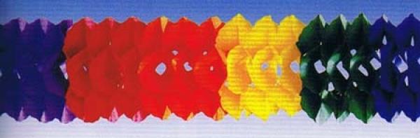 72851 Regenbogen Girlande, 10m lang, 16cm hoch, flammensicher...