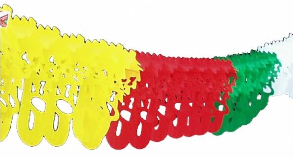 7221 Saxophon Girlande, ca. 4m lang, ca. 33x13cm stark, fünffarbig, - Vorschau
