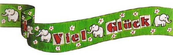 """74803 1 Rolle Kreppband mit dem Aufdruck """" Viel Glück"""", 20m lang, 5cm breit, flammenres"""