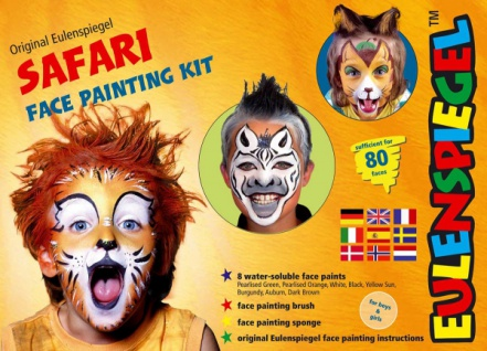 es208120 Safari Face Painting Kit,