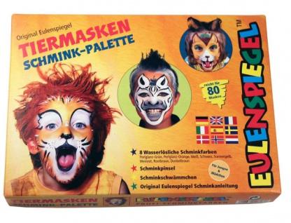 es208038 Tiermasken Schmink Palette, mit den 3, 5ml Farben: Weiß, Schwarz, Per - Vorschau 1