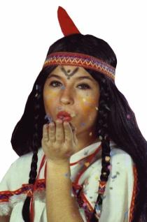 """Perücke 4115 Perücke, """" Indianerin"""", langes Haar, zw"""
