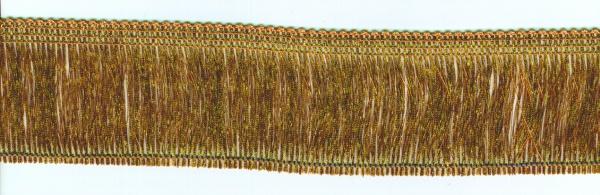13976 feine Lurexfransen, 50mm breit, in gold und silberfarben, Pre