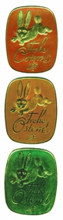 98715 Klassische Folien Applikation: goldener Hase und in goldener
