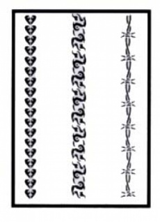 es456187 Tattooschablone Stripes I