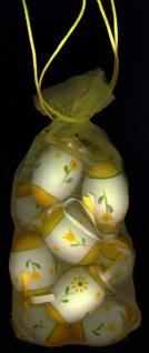 0901140 Netz mit 12 Ostereiern mit Blumenmotiven, die Eier sind ca. 55x40mm groß - Vorschau