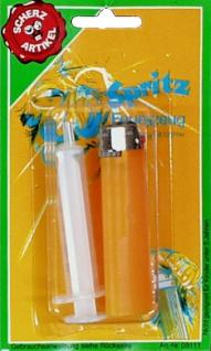8550 Spritz Feuerzeug mit Füllspritze, spritzt beim zünden
