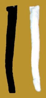 5960 Katzenschwanz zum annähen, in schwarz und weiß, 40cm lang