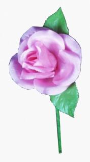 23605 Taft Rose mit zwei Blättern, in rosa...
